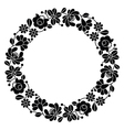 Kalocsai black embroidery in circle - Hungarian vector image vector image