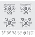 Labels with crossed keys vector image vector image