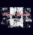 merry christmas lettering on a canada flag vector image vector image