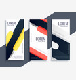 modern abstract set of geometric banners vector image