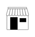 monochromatic store with awning vector image