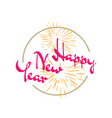 new flat styles hand drawn happy new year 2020 vector image vector image
