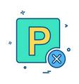 no parking icon design vector image vector image