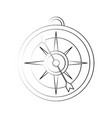 old navigation compass vector image vector image