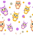 Owls seamless vector image