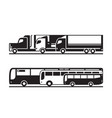 passenger and freight transportation on road vector image vector image