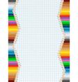 pencil borders vector image vector image