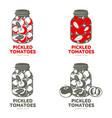 pickles glass jar flat vector image vector image