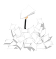 Pile of papers vector image vector image