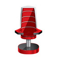 red chair isolated on white background vector image vector image