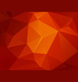 red orange mosaic triangle background vector image vector image