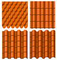 Roof pattern set vector image vector image