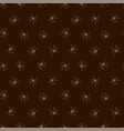 seamless dark pattern with spiders vector image vector image