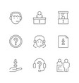 set line icons info and help center vector image