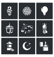 Set of Lighting Icons Powersave lamp vector image vector image