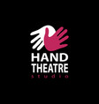 set of plastic hands theatre studio logo design vector image