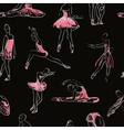 sketch of girls ballerina seamless pattern vector image vector image