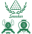 Snooker vector image vector image