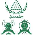 Snooker vector image vector image
