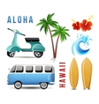 surfing set in retro style vector image vector image