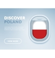 Traveling by plane Flat design banner vector image vector image