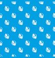 vegan pattern seamless blue vector image