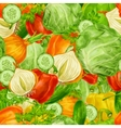 Vegetables mix seamless background vector image vector image