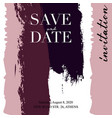 wedding invitations grunge texture card template vector image vector image