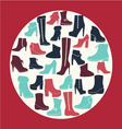 Winter shoes collection vector image