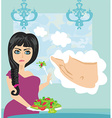 woman on a diet vector image vector image