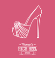 Womens shoe background with text baget vector image