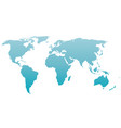 world map silhouette blue gradient vector image