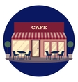 building restaurant and vector image