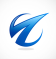 abstract arrow loop finance logo vector image