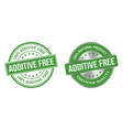 additive free grunge stamp and label vector image vector image