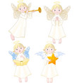 angels set vector image
