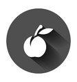 apricot fruit icon in flat style peach dessert on vector image
