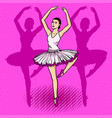 ballet dancer pop art vector image vector image
