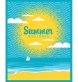 beach summer time vector image