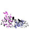 birds of floral vector image vector image