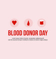 blood donor day background art style vector image vector image