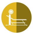 brench press with weight barbell sport shadow vector image vector image