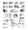 brushed stains set vector image vector image