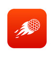 burning golf ball icon digital red vector image vector image