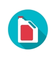 Canister under the petrol vector image vector image