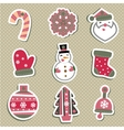 Christmas tags or stickers for gifts vector image vector image