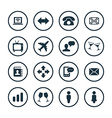 communication icons universal set vector image
