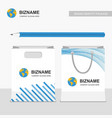 company advertisement shopping bags with company vector image
