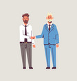 couple businessmen handshaking business partners vector image vector image