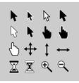 Cursor icons vector image vector image